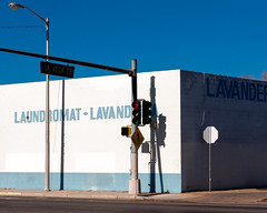 (el zopilote) Tags: albuquerque newmexico street architecture cityscape signs stop powerlines storefronts red canon eos 1dsmarkiii canonef24105mmf4lisusm fullframe