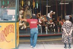 Coney Island carousel 1990 (Meredith Jacobson Marciano) Tags: coney coneyisland carousel analog merrygoround