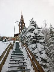 Clocher (-Skifan-) Tags: escalier escalierjetay lesmenuires 3vallées les3vallées skifan
