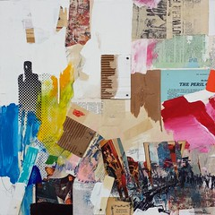 Tossed as it is Untroubled (2016) (Jim Ford art) Tags: jimford paintings art collage mixedmedium music johncage automatic