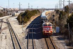 Of Course I Did (explored) (tim_1522) Tags: railroad railfanning rail missouri mo stlouisdistrict ns norfolksouthern 911 honoringfirstresponders sd60e emd automotive autoracks searchlight signals