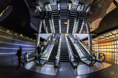 up or down? (TAC.Photography) Tags: steps escalator ohare chicago reflections mirror airport