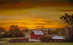Country Sunset (http://fineartamerica.com/profiles/robert-bales.ht) Tags: ranch wood old sunset red sky building home beautiful barn rural sunrise vintage fence buildings wow dark spectacular landscape photo wooden construction rust paint butte superb farm awesome grunge country farming scenic peaceful farmland structure stained idaho boise sensational rough sunrisesunset plank tranquil emmett magnificent lumber haybales stupendous oldbarn hardboard idado treasurevalley gemcounty scenicbiway squawbutte robertbales americaphotography