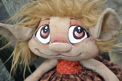 Custom Groffle (Scribble Dolls) Tags: cute art toy happy stuffed doll sweet handmade ooak critter plush softie fabric fantasy handpainted plushie troll handsewn artdoll cloth custom creature sewn scribbledolls