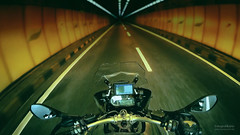 One point and a perspective (Motographer) Tags: road photoshop mirror vanishingpoint screenshot action perspective cockpit tunnel malaysia bmw motorcycle windscreen touring fpv r1200gs kartz gopro hero3 motography motographer motograffer