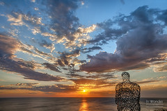 Juame Plensa's Spillover II (In Wonder Photo) Tags: sculpture wisconsin sunrise landscape dawn nikon lakemichigan shorewood juameplensa markadsit spilloverii