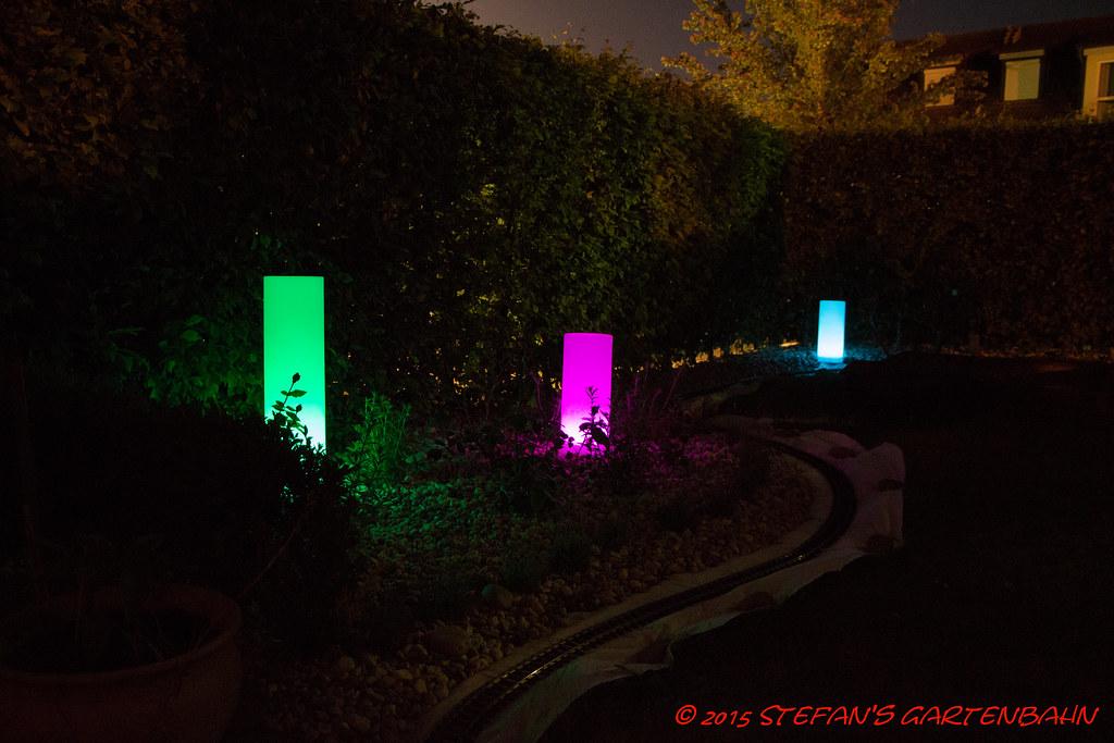 cool led solar lichtsulen von tchibo stefans gartenbahn tags solar led tchibo sule lichtsule with led mit farbwechsel und
