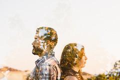 Qerina + Mitchell (Jessi Field | www.iamjessifield.com) Tags: love engagement nikon doubleexposure pensacola incameradoubleexposure pensacolaphotographer