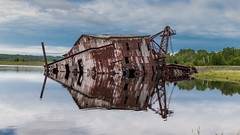 Quincy Dredge #2 (joeqc) Tags: abandoned mi canon quincy boat michigan country forgotten copper sunk dredge 6d keweenaw ef24105l