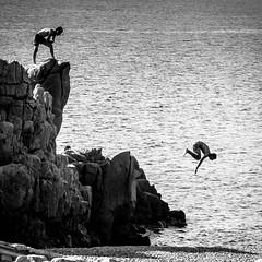 Köpper I 2015 (@mmanni) Tags: italien blackandwhite bw italy beach rock sardinia beachlife sardinien arbatax porphyry porphyrfelsen porphyryrock porphyrycliff