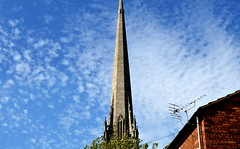 Tuned-in (Tony Worrall) Tags: county uk blue england sky building church weather clouds point stream tour open place northwest unitedkingdom country north visit location lancashire steeple spire area preston tall build northern update attraction pointed lancs hign stwalburgeschurch welovethenorth 2015tonyworrall