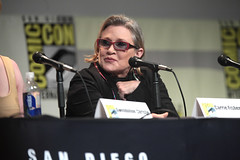 Carrie Fisher (Gage Skidmore) Tags: california adam ford john star lawrence oscar jj san comic harrison force kathleen mark isaac diego center convention fisher daisy driver christie wars carrie abrams kennedy con gwendoline hamill ridley 2015 awakens domhnall kasdan gleeson boyega