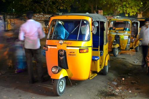 India - Telangana - Warangal - Streetlife At Night - Auto Rickshaw