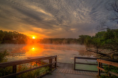 SouthDeckSunrise (jmishefske) Tags: park nature wisconsin franklin pier dock pentax south july center deck milwaukee wehr 2015 whitnall k01 mallardlake halescorners