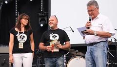 Mme Adjointe à la culture, M. Antonio, Président festival, et Mr le Maire de Cabannes