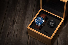 Shinola Watch and Box (jesmo5) Tags: light white black color reflection male clock glass colors photography gold grey lights golden hands aluminum pretty glow texas time box watch dramatic twinkle jewelry pop business timepiece gradient elegant rgb aviator compass dials beaumont jeweler breitling beaumonttexas productphotography brushedaluminum shinola watchhands gradated breitlingwatch jessiemoore moorecreativedesign shinolawatch shinolawatches