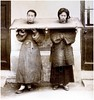 PIG-TAIL PETE and HAIR-LIP HARRY -- Here's Another Fine Mess They've Gotten Themselves Into (Okinawa Soba (Rob)) Tags: china stock chinese stocks punishment 1890 braid pigtail albumenprint yoke canga pillory publichumiliation corporalpunishment oldchina hairlip cangue 木枷 mujia