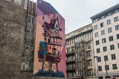 20160919 Budapest, Hungary 03591 (R H Kamen) Tags: budapest easterneurope hungary pest architecture buildingexterior mural rhkamen