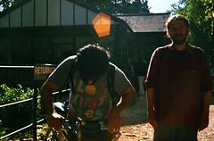 (The Integer Club) Tags: film 35mm yashicaelectro35gt 2016 london uk batterseapark lensflare summer diy roadbikes carrera bicycles