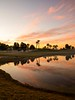 Picturesque  ... (Hazem Hafez) Tags: lagoon lake sunset colors pink red yellow trees water reflection egypt view green greenery sky
