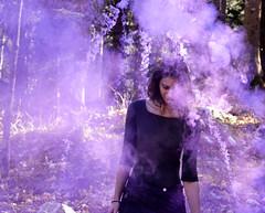 Cloudy. (Leonor F) Tags: smoke violet woman nikon nature rest filmphotography film filmisnotdead portrait girl adventure explore