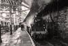"""A Bustling Standard"" Standard 4 76084 (Liam60009) Tags: eastlancashirerailway elr buryboltonstreetstation bury monochrome blackandwhite bw standard4 4mt 76084 station train steamlocomotive steam"