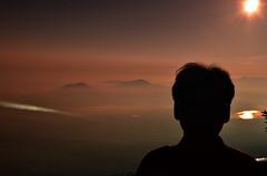 Boss in Silhouette Mount Fuji Sunrise (pokoroto) Tags: boss silhouette mount fuji sunrise  fujisan yamanashi prefecture   japan 8   hachigatsu hazuki leafmonth 2016 28 summer august