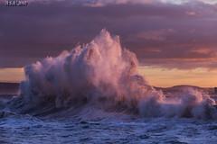 "Pink Sunset (""A.S.A."") Tags: hartlepool headland heugh breakwater hightide northeast northeastcoast northsea teeside cleveland canoneos6d canonef70200mmf4lisusm asa2017 sunset"