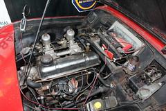 1957 Triumph TR3, the engine (Davydutchy) Tags: car collection private privé sammlung collectie automobile auto automobiel bil voiture pkw klassiker classic triumph tr3 convertible cabriolet cabrio ragtop 3 motor engine moteur welsum trn nieuwjaarsborrel january 2017