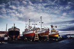 Ships in Shipyard (bacon.dumpling) Tags: keflavík iceland boat cloud cloudy drydock hull maintenance nikond750 nopeople nobody outdoor repair rust ship shipyard sigma24mmf14dghsmart sky