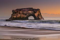 The Portal (hazarika) Tags: naturalbridges naturalbridgesstatepark santacruz california sunset waves arch mausamhazarikaphotography naturalarch