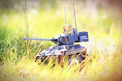 """""""Serenity"""" (ABS Defence Systems) Tags: lego tank afv light cvrt scimitar outside outdoors bley vehicle tracked brickmania track links prototype"""