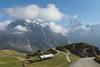 A glimpse of First, Wetterhorn and Schreckhorn (LeoAgneau) Tags: bachalpsee berneseoberland firstcliffwalk grindelwald schreckhorn wetterhorn