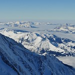 L'archipel et la mer de nuages, Aiguille du Midi, Chamonix-Mont Blanc, Haute-Savoie, Rhône-Alpes, France. thumbnail