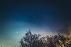 Venus and the ISS (FrankM301) Tags: constellation dusk internationalspacestation iss newjersey nightsky orion orionbelt spotthestation sunset twilight venus