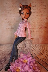 "Handmade clothing for Monster High 17"" Large Clawdeen Wolf Doll (vampirella0710) Tags: clawdeenwolf клодинвульф doll кукла craft outfit аутфит bodysuit silyard одеждадлякуклы clothes clawdeen монстерхай monsterhigh"