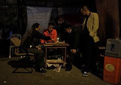 """""""happy hour"""" (ii) (hugo poon - one day in my life) Tags: xt2 23mmf2 hongkong northpoint tongshuiroad citynight goodnight games chess men retired longnight dark vanishing reminiscing streetlife friends happyhour"""