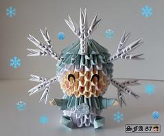 Snowflake Kid Origami 3d (Samuel Sfa87) Tags: snowflake kid origami 3d origami3d sfaorigami sfa87 sfa in suit bambino bimbo bimbi neve snow papercraft p papel craft crafts criança cartone carta gelo freddo handmade fantasia folding fantasiado