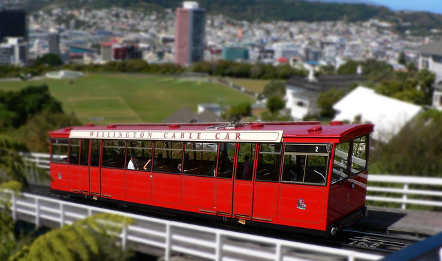 Wellington Cable Car (tilt shift miniature fake)