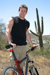 Carl with his mountain bike (mbennett - Carl Edwards) Tags: mountainbike carledwards