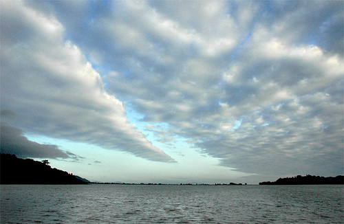 Clouds over Bolinas Lagoon by oaxoax.