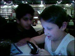 G and Aditya with G's First Cell Phone