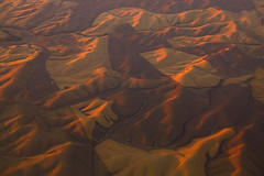 Rolling Hills, Walla Walla, Washington (Aerial) (LivingWilderness.com) Tags: sunset usa ice nature iceage landscape golden washington flood patterns hill aerial hills erosion age geology eastern rolling wallawalla sculpted