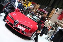 The car or the girl... (sixspeed) Tags: cars girl 350d model geneva 2006 spyder alfa romeo motorshow brera palexpo