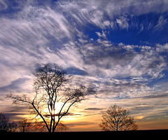 Dances with Clouds (CountryDreaming) Tags: trees sunset ohio sky clouds 500v20f quality sundog greatsky 1000v40f specland specnature