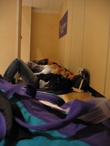 BA strike: sleeping on the floor by quinn.anya.