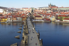 Charles Bridge in the morning - by Sam and Ian