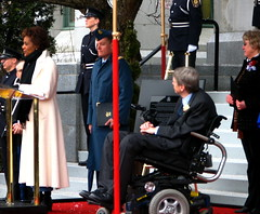 Michealle Jean and Sam Sullivan Oslo flag ceremony
