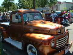 Bronze Truck Whole Shot (bigfuzzyjesus) Tags: car hotrod streetrod ratrod backtothe50s