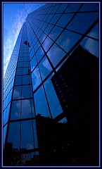 Still Reaching for the Sky (Mrs. Terry) Tags: blue boston architecture reflections shadows cityscapes abstracts soe johnhancocktower instantfave flickrific photosbyterry picswithframes copyright2007byteresamforrest superbmasterpiece beyondexcellence